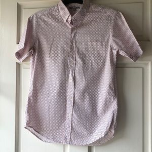 UNIQLO Blue and Red Printed button down Sh…